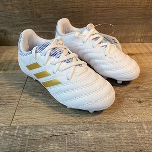 Adidas COPA 19.3 FG J Soccer Cleats White Gold